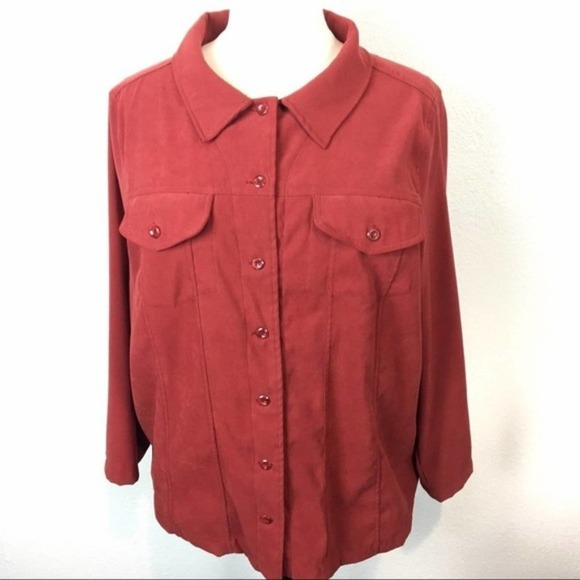 Islander Ultra Suede Button Up Shacket Size 3X
